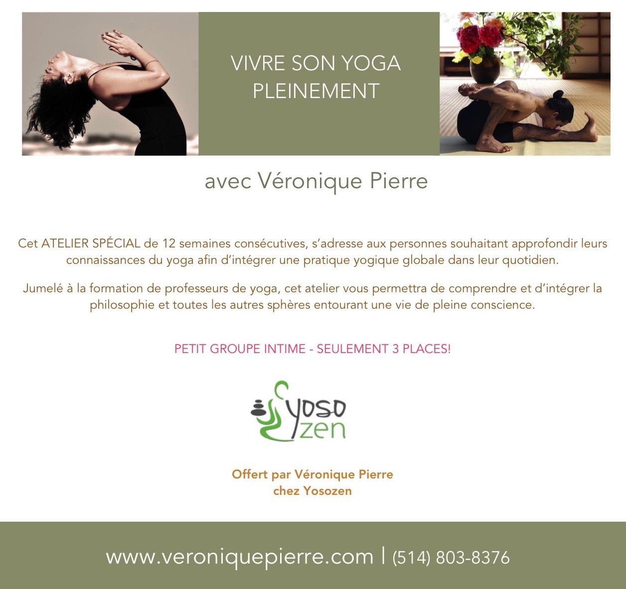 vivre son yoga pleinement yoga m ditation avec with v ronique pierre. Black Bedroom Furniture Sets. Home Design Ideas