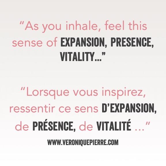 Expansion – Présence – Vitalité (expansion – presence – vitality)